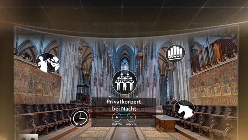 virtual reality menu design