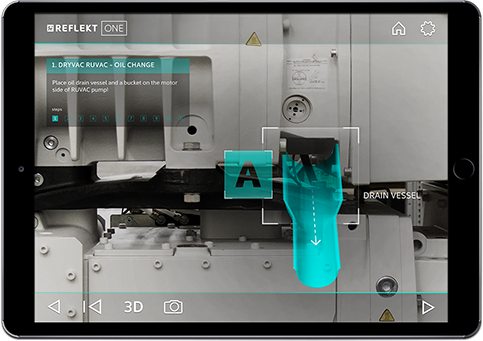 Leybold Augmented Reality Pump Industry